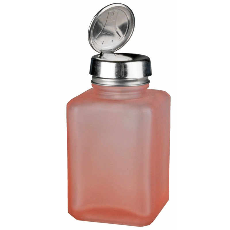 Menda 35380 Pink Frosted Bottle With One Touch Pump 4 Oz