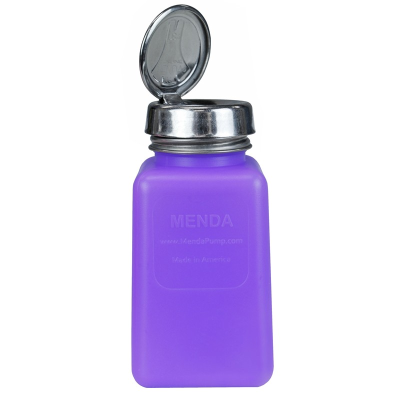 Menda 35484 Purple Hdpe Bottle With One Touch Pump 6 Oz